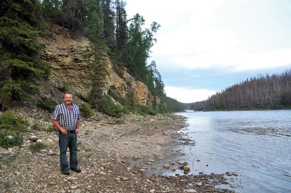 Raymond Michaud goes for a walk along the Trout River every evening. Photo Samia Madwar