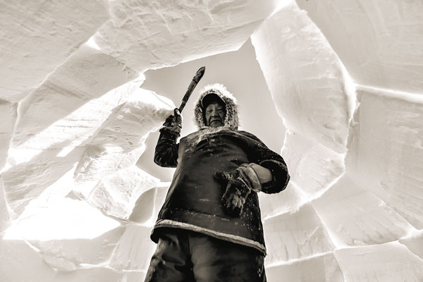 An iglu near Arviat. Photo: Paul Aningat