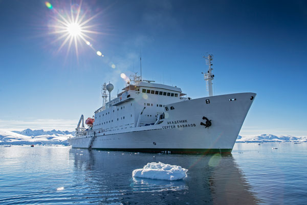 If you're on board the Akademik Sergey Vavilov, you might be helping out with the ongoing search for Franklin's expedition remains this summer. Courtesy Mark Cowardine/One Ocean