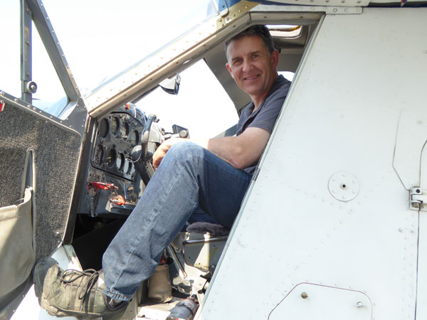 Dave Sharp in the cockpit of his de Havilland Beaver in Whitehorse. Photo courtesy Tintina Air