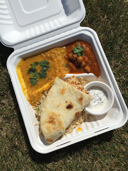 The Silver Bindi offers up Indian-style food on weekdays at Whitehorse's Rotary Park. Photo Eva Holland