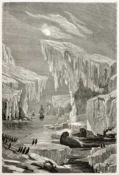 Depictions of Franklin's lost expedition, like this one by Grandsire & Laly, took on mythic qualities.
