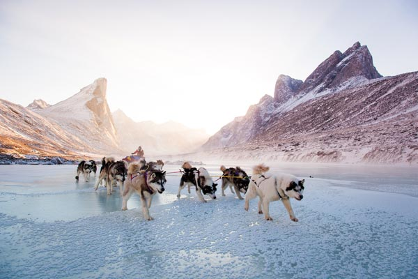 """BAFFIN ISLAND BY SLED AND SKI: Sarah McNair-Landry, Erik Boomer and their dog team spent 120 days circumnavigating the fifth-largest island in the world, arriving home at the end of May. McNair-Landry's parents took the same route 25 years before, and the two young adventurers noticed a few stark differences, both environmental—""""We only saw five caribou. I don't know if they're the five left,"""" says McNair-Landry with a laugh—and cultural: """"There were a lot more people living in outpost camps [back then]—cabins out in the middle of nowhere on the land—and there was none when we went around."""""""