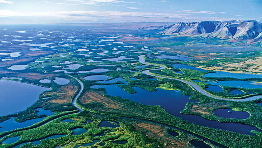 The Mackenzie River Delta. Photo by Fritz Mueller