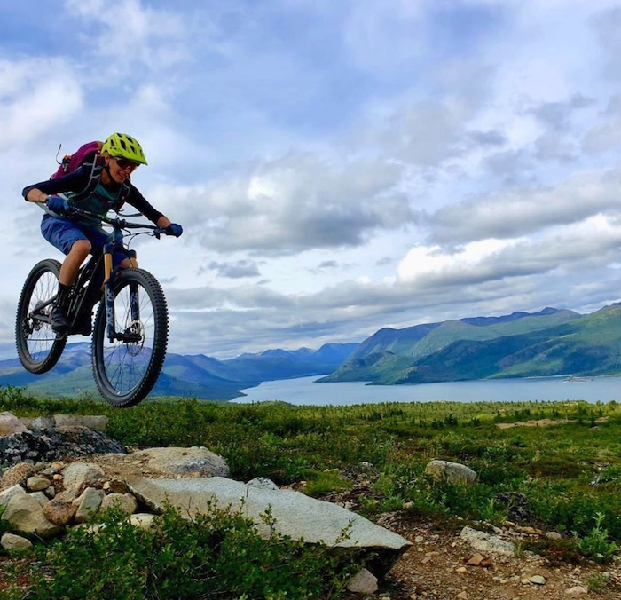 Boreal biking in the Yukon. Courtesy of Sweet Skills BC (via Instagram)