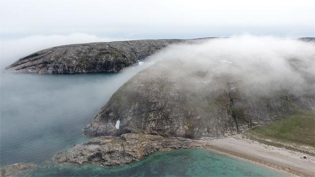 The impressive cliffs of Coats Island.