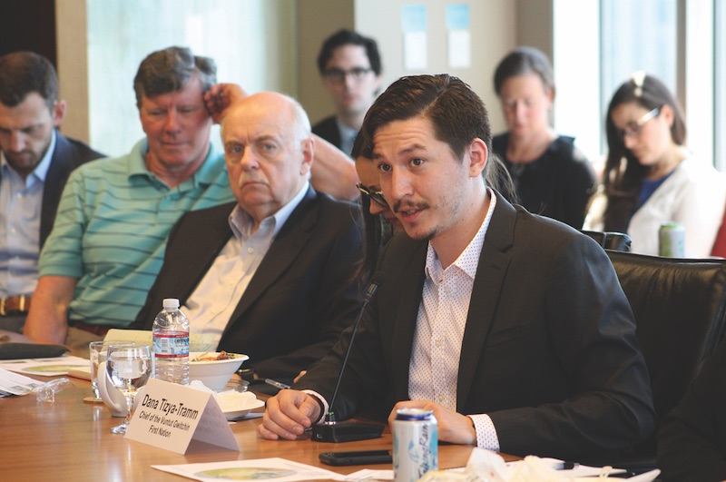 Speaking at the World Affairs Council of Seattle roundtable back in April. UNIVERSITY OF WASHINGTON
