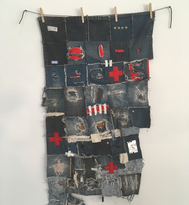"Marcus Jackson created this ""anti-quilt"" for the first social fabric show in 2018. COURTESY YK ARTIST-RUN COMMUNITY CENTRE"
