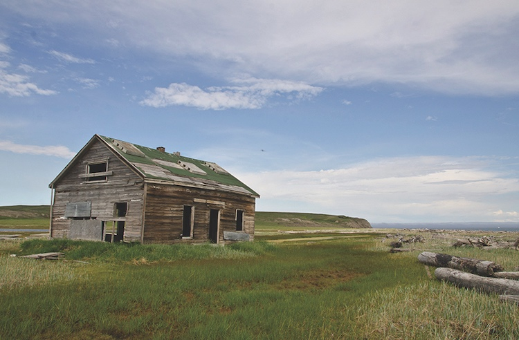 An old whaling shack in Qikiqtaruk. COURTESY YUKON GOVERNMENT