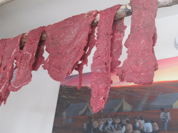 Meat dries after a successful hunt. Photo courtesy of Wes Pellissey