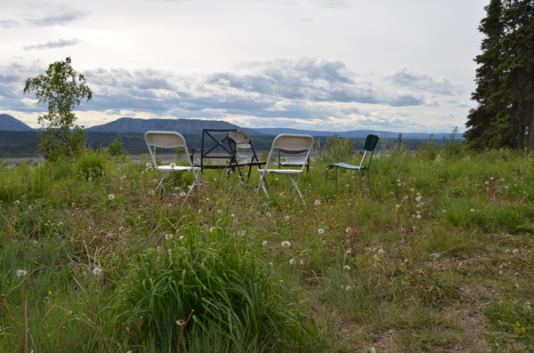 The view from the Pellissey homestead includes the Mackenzie Mountains to the west. Photo by Daniel Campbell/Up Here