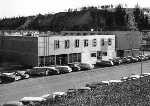 The Hougen department store on Main Street in Whitehorse in 1961.