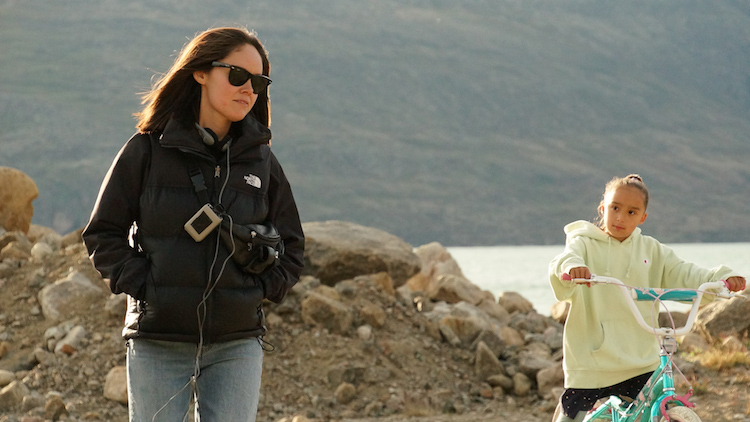 Nyla Innuksuk on location in Pangnirtung