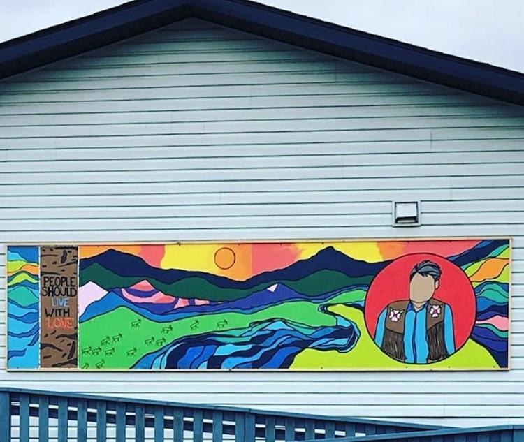 A mural Charlie helped create in Mayo, Yukon. VIA INSTAGRAM