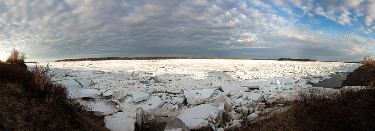 A river of broken ice. Photo by Jason Pineau