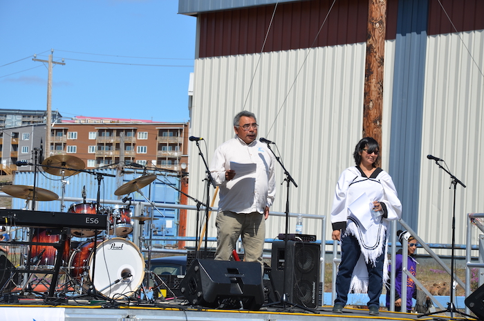 """This is our Nunavut,"" Minister David Akeeagok tells the crowd."