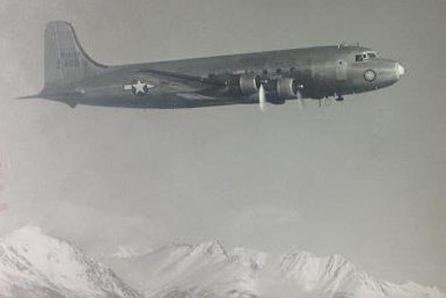 The United States Air Force C-54 Skymaster 42-72469, four years before it disappeared over the Yukon. Photo - Public Domain