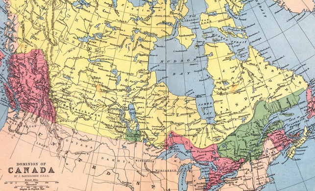 In 1875, the Prairie provinces barely existed and the NWT sprawled across most of Canada. Bit by bit, it ceded ground to the south, the Yukon, and, most recently, Nunavut. Courtesy Derek Hayes