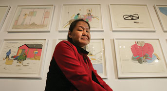 Annie Pootoogook. Photo by Bernard Weil/Toronto Star