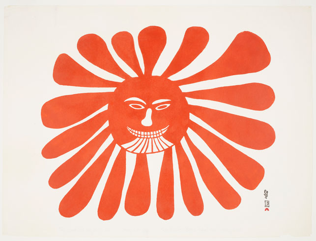 The Woman Who Lives in the Sun (1960) by Kenoujak Ashevak. Image courtesy AGO