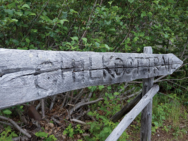 Hiking the Chilkoot Trail during the Goldrush era was a potentially fatal trek.