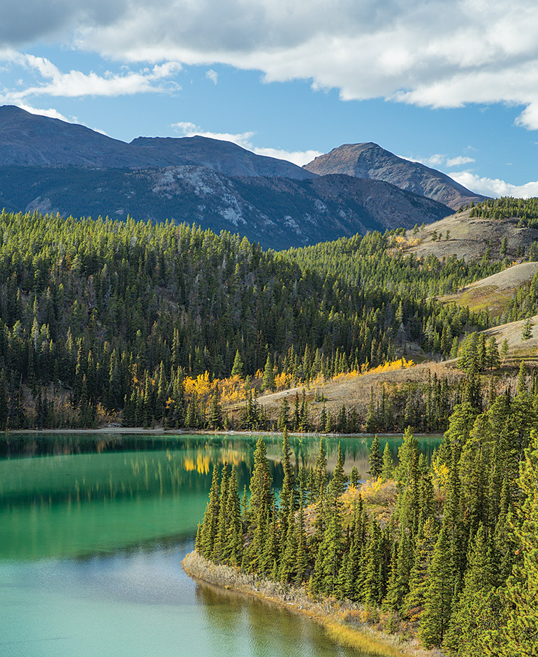 Emerald Lake is one of the stops on the Southern Lakes and White Pass Excursion.