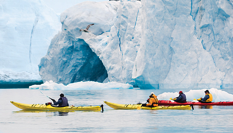 Devon Island kayaking. Photo by Ed Darock/Corbis