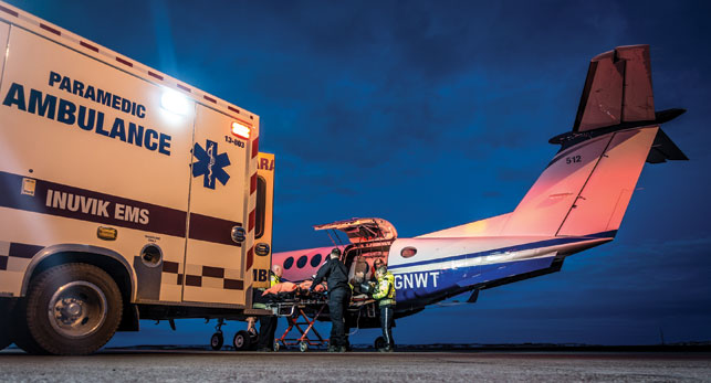 There are roughly 100 medevacs per month in the NWT. Photo by Hugh Gilmour