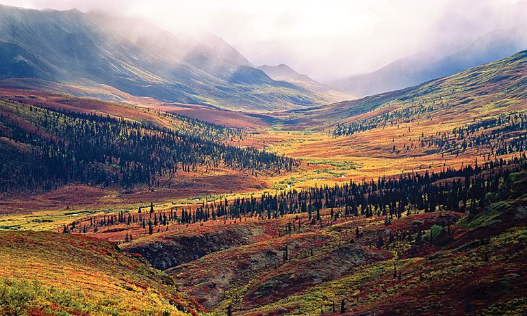 A moody day in North Fork Pass. by Fritz Mueller