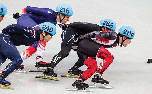 Michael Gilday at the Sochi Olympics. Photo: Alamy.