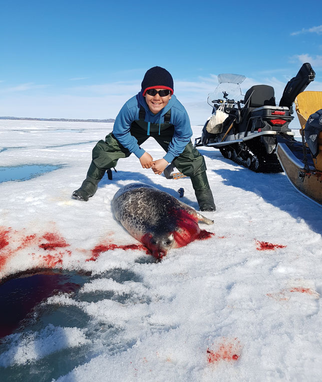 Nutaralaaq with his first seal.