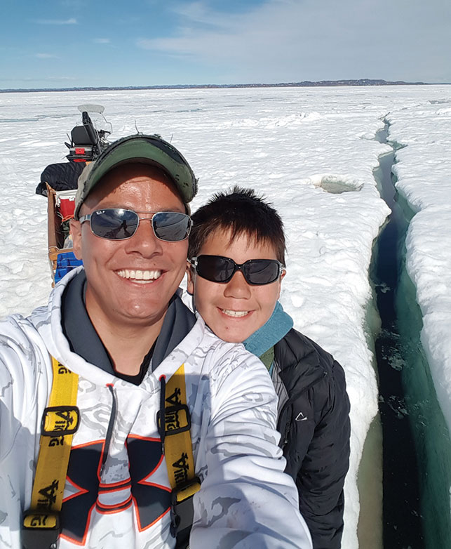 Father (ataata) Steven Lonsdale and son (irni), Nutaralaaq Hughes-Lonsdale