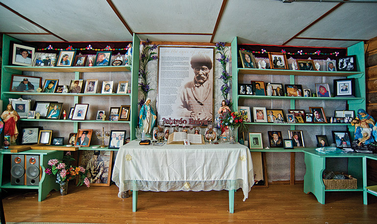 A shrine to the prophet Ayah. Photo by Angela Gzowski