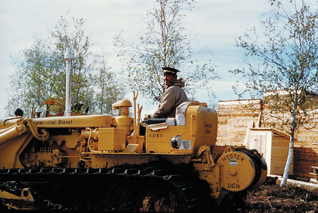 he had a hand in building many of Inuvik's roads. NWT Archives/Curtis Merrill