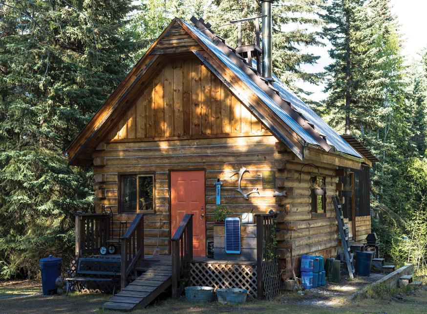 Gaby Sgaga's Lower West Dawson cabin home. Photo by Chris Healey