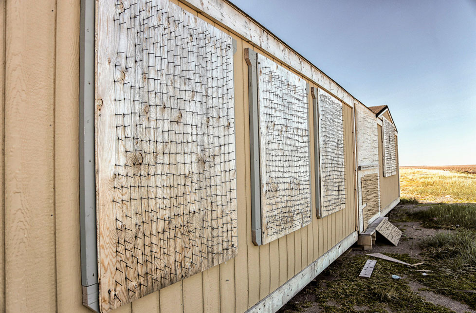 When you bear-proof a cabin in polar bear country, half-measures won't do. This cabin is used by researchers as a base to study the same predators they guard against. Photo by Paul Aningat