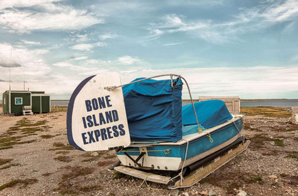'The Bone Island Express' awaits its next ride. Photo by Paul Aningat