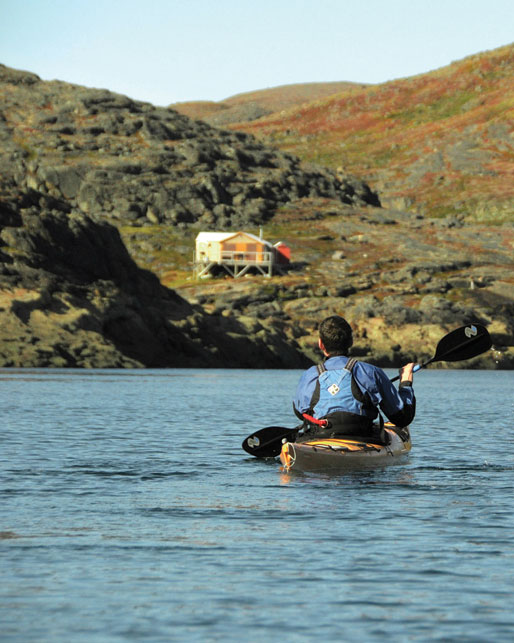 """At Burton Bay, 20 kilometres from town. """"My husband and I go out often in kayaks, but we rarely see other people on the water in kayaks,"""" says Wood. Motorboats are the preferred mode of summer transport. Photo by Pamela Wood"""