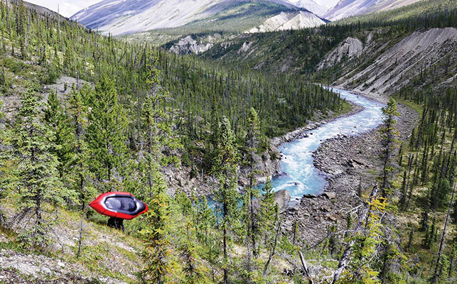 OFF TO PADDLE BLACK WOLF CREEK, A TRIBUTARY OF THE NAHANNI RIVER IN THE NWT. Photo courtesy of Paul Burbidge.