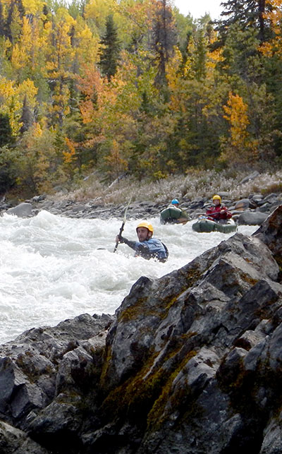 TAKING A TATSHENSHINI RIVER PACKRAFTING COURSE. Photo courtesy of Bob Daffe.