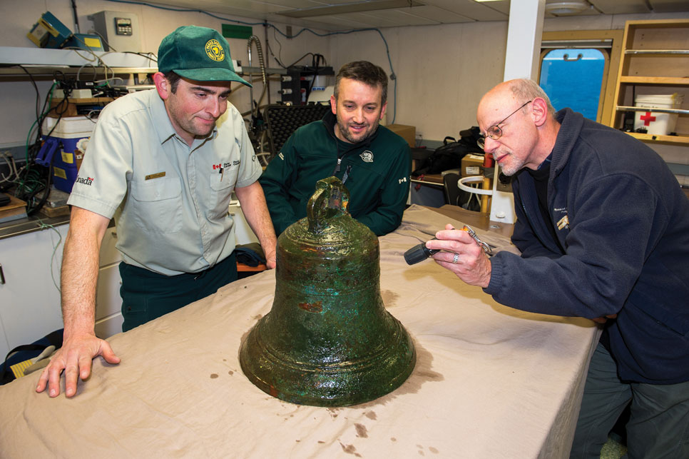 """The potential of an artefact to help convey time and place and the experience of these men, I think, is very powerful,"" says Ryan Harris, Parks Canada underwater archaeologist, left. Courtesy Thierry Boyer/Parks Canada"
