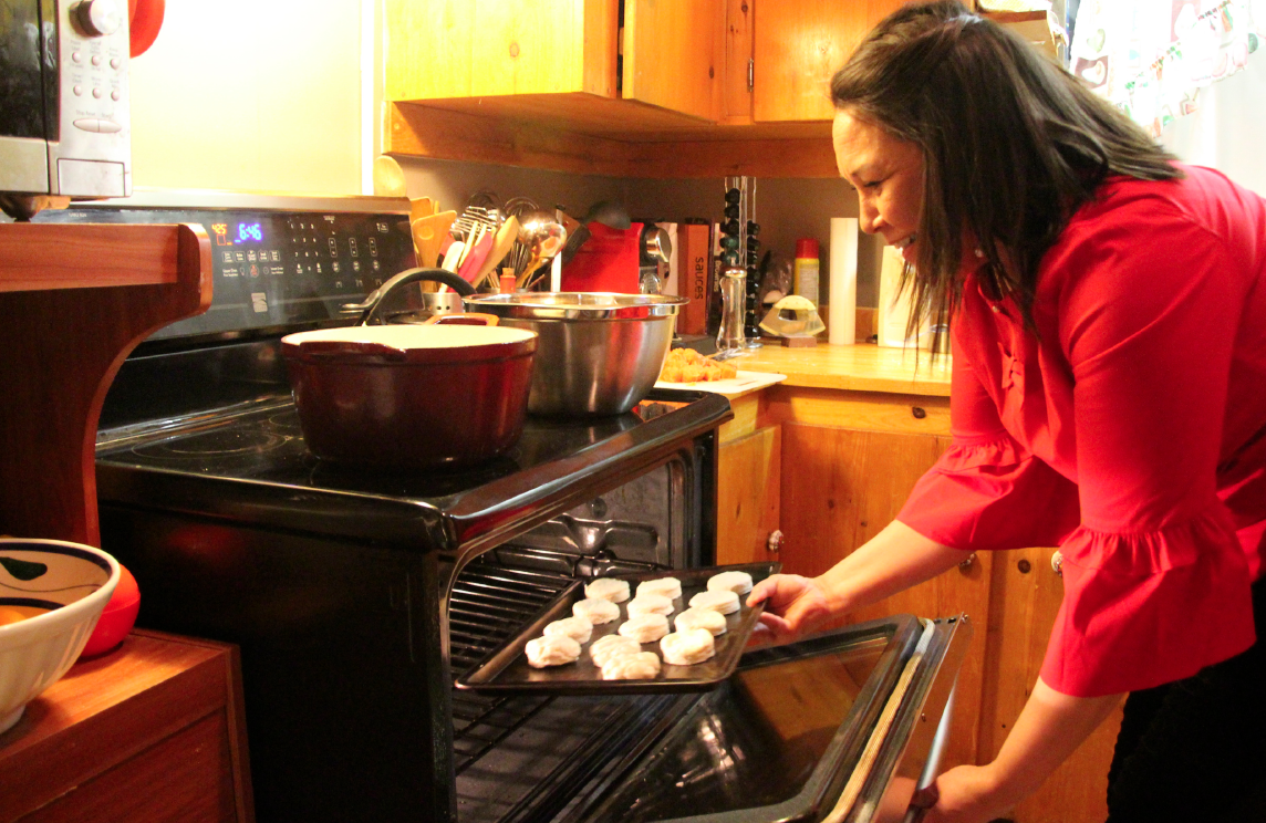 Sheila Lumsden cooks bannock in her Iqaluit kitchen. She hopes to soon open a B&B to introduce clients to authentic local and in-season cuisine. Beth Brown