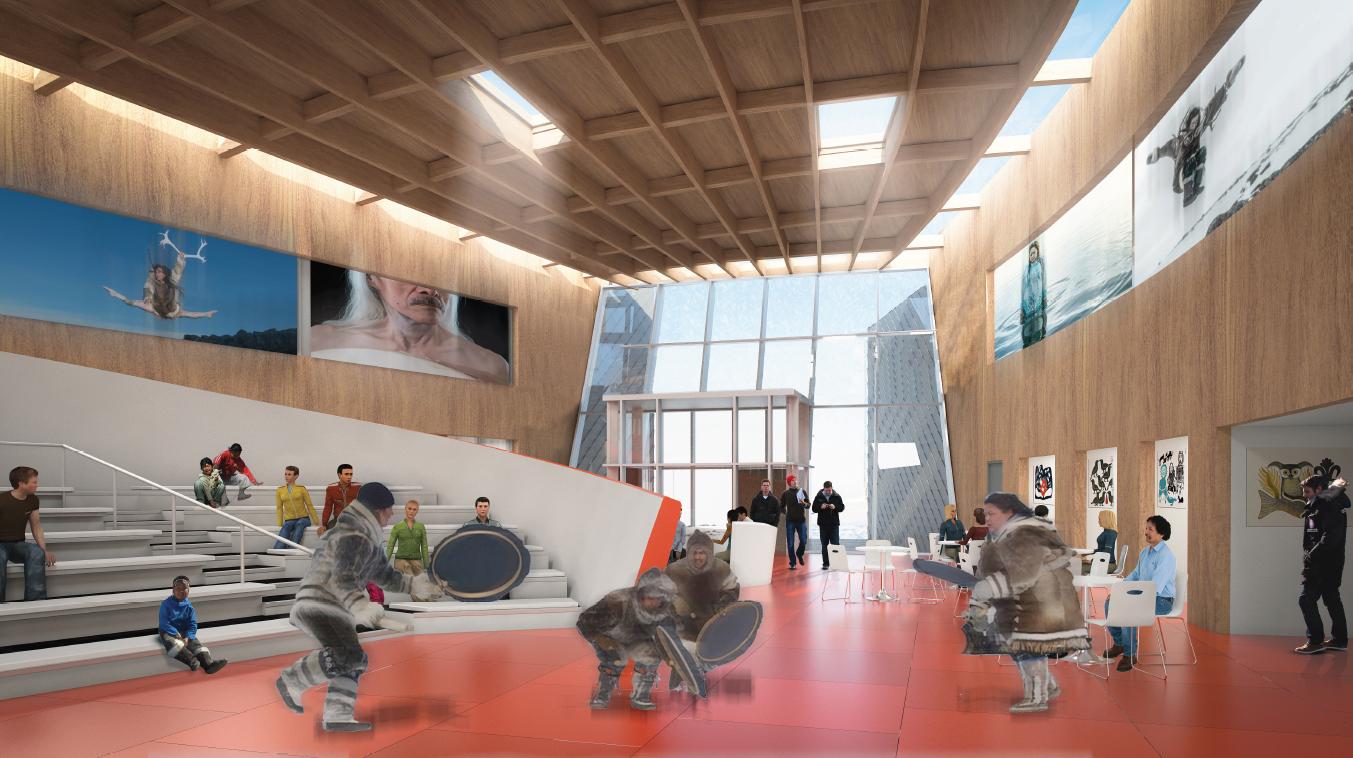 Inside the Qaggiq. Courtesy Diamond Schmitt Architects.