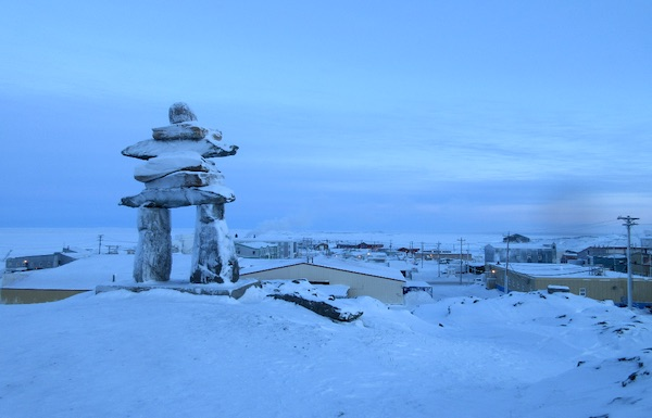 Inukshuk, Rankin Inlet. CREDIT UP HERE