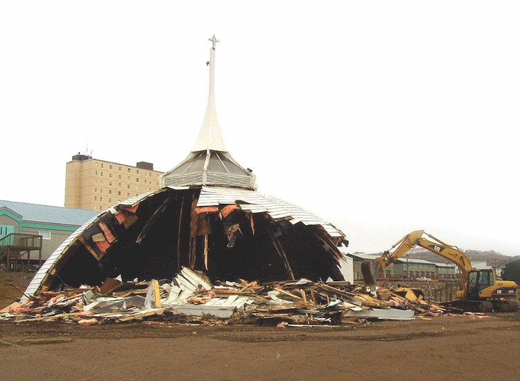 St. Jude's Anglican Church in Iqaluit was destroyed by fire in 2005. It would take 12 years to rebuild. COURTESY ANGLICAN CHURCH OF CANADA
