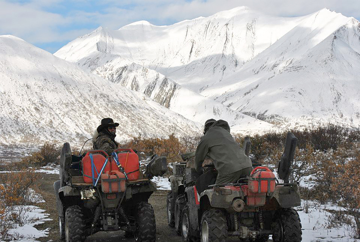 ATVs on the Canol Trail. Photo courtesy Darcy Bourassa