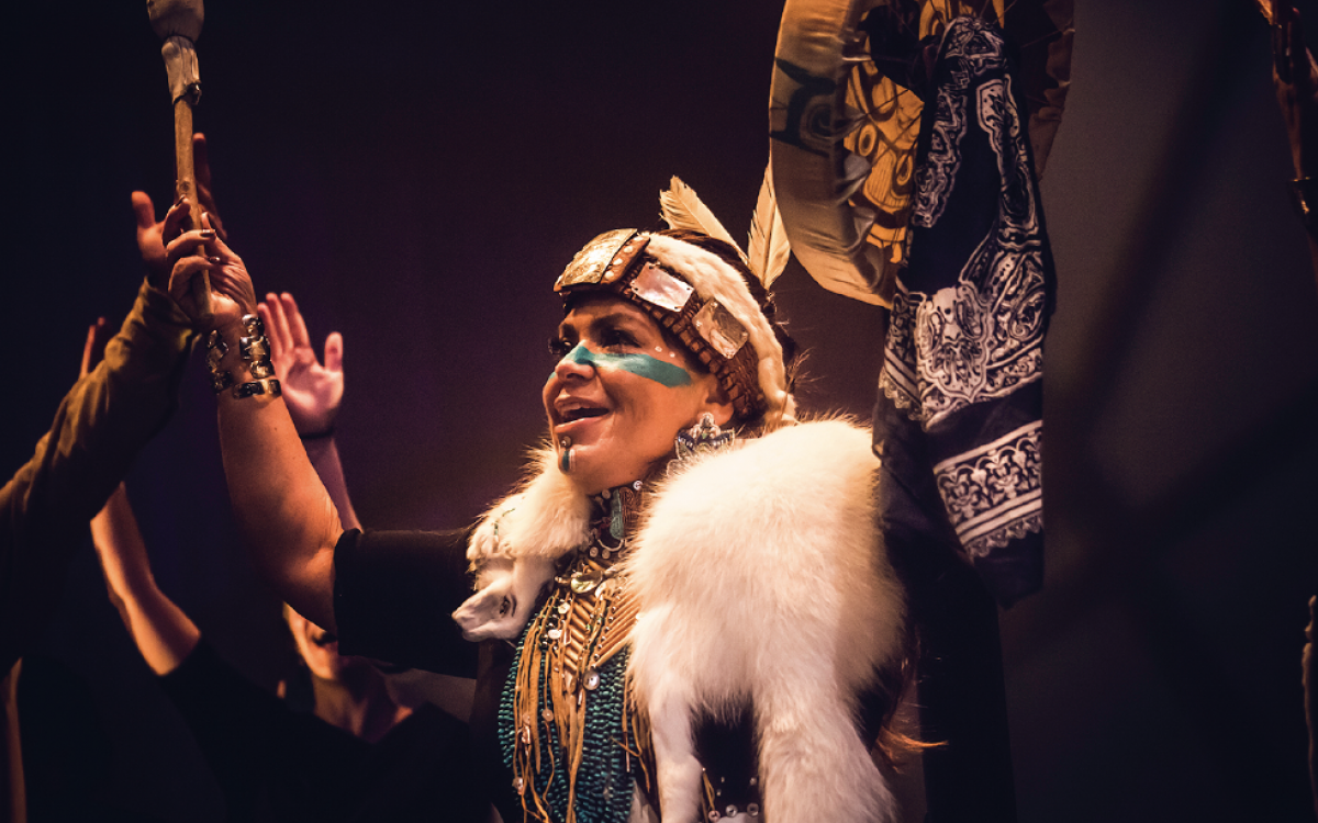 Marilyn Jensen and the Dakhká Khwáan Dancers recently collaborated with the Yukon's DJ Dash.