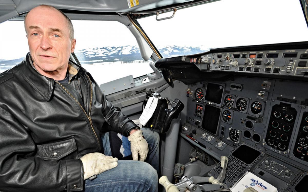 Joe Sparling's equally at ease piloting a Boeing 737 or his company, Air North. Photo by Ian Stewart/Yukon News