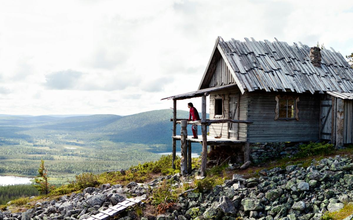 A cabin in Finnish Lapland. Photo by Visit Finland