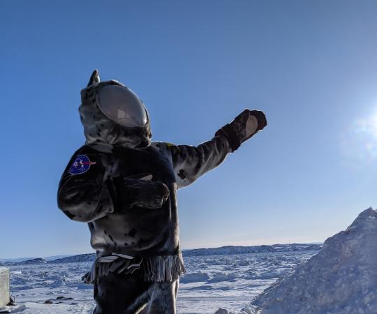 A sealskin spacesuit